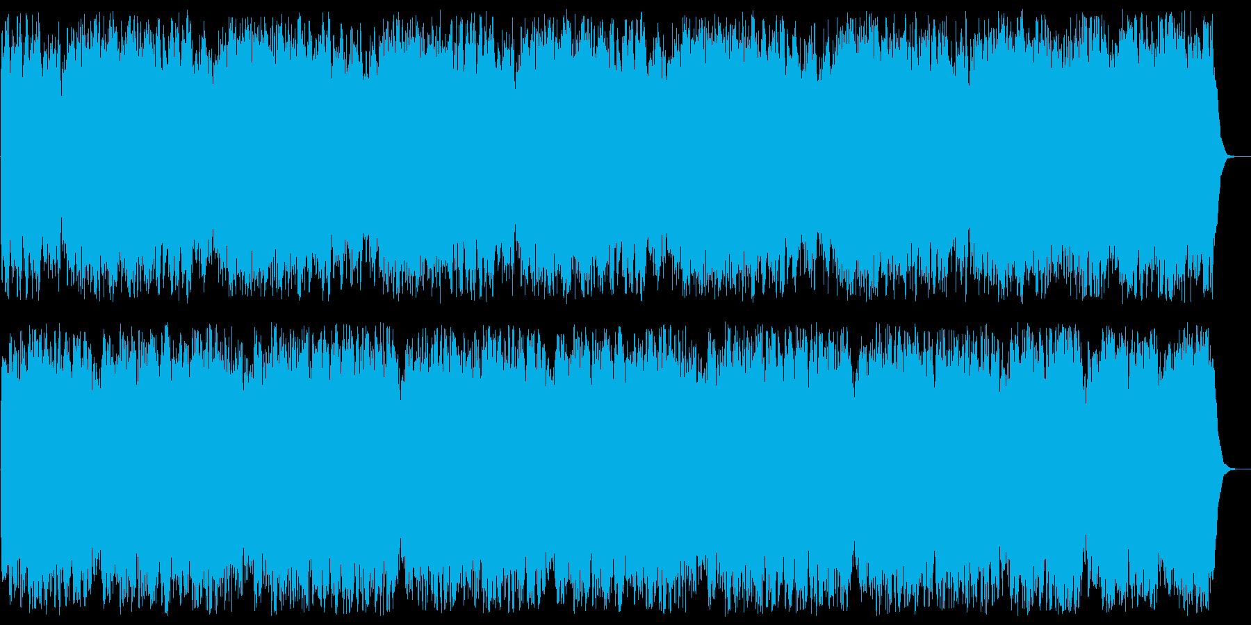 重厚なくらい雰囲気のシンセサイザーの曲の再生済みの波形