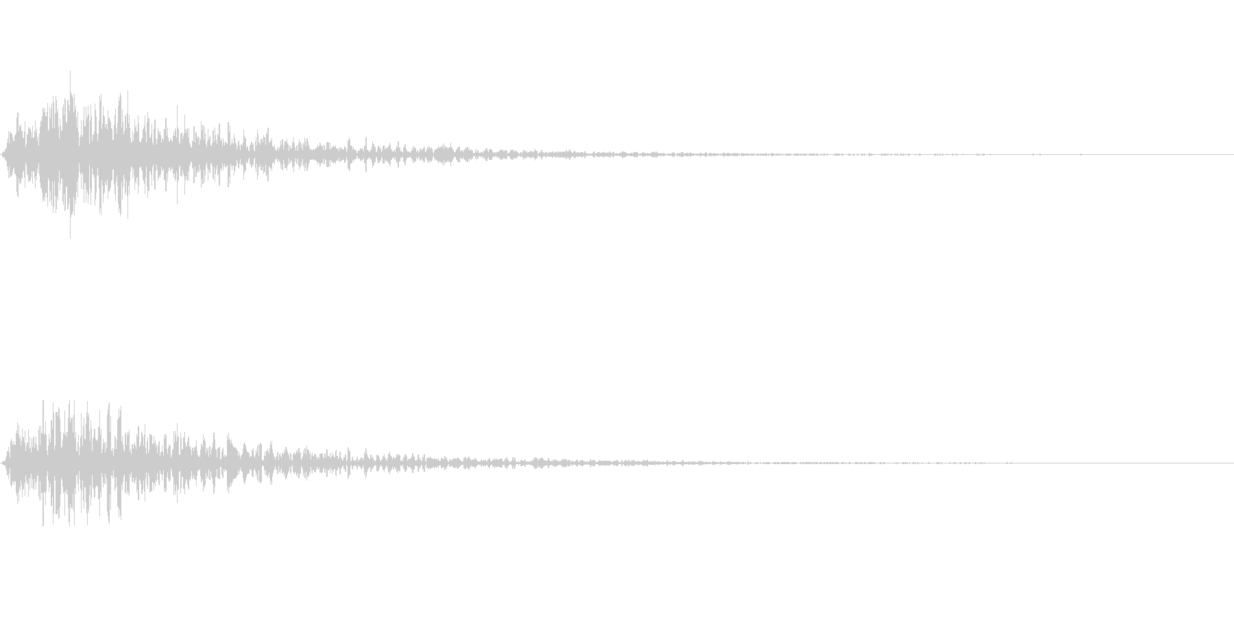 コンサートホールのライトアップの未再生の波形