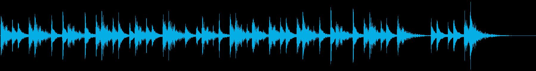沖縄民謡風CMの再生済みの波形