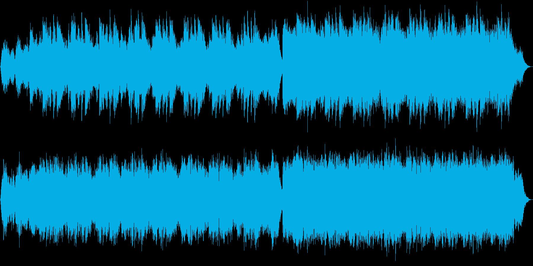 美しく神秘的・幻想的なアンビエントBGMの再生済みの波形