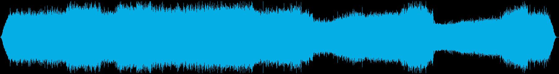ミーンミーン 北海道の蝉 音景色 その5の再生済みの波形