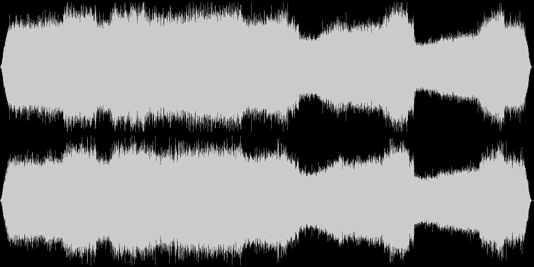 ミーンミーン 北海道の蝉 音景色 その5の未再生の波形