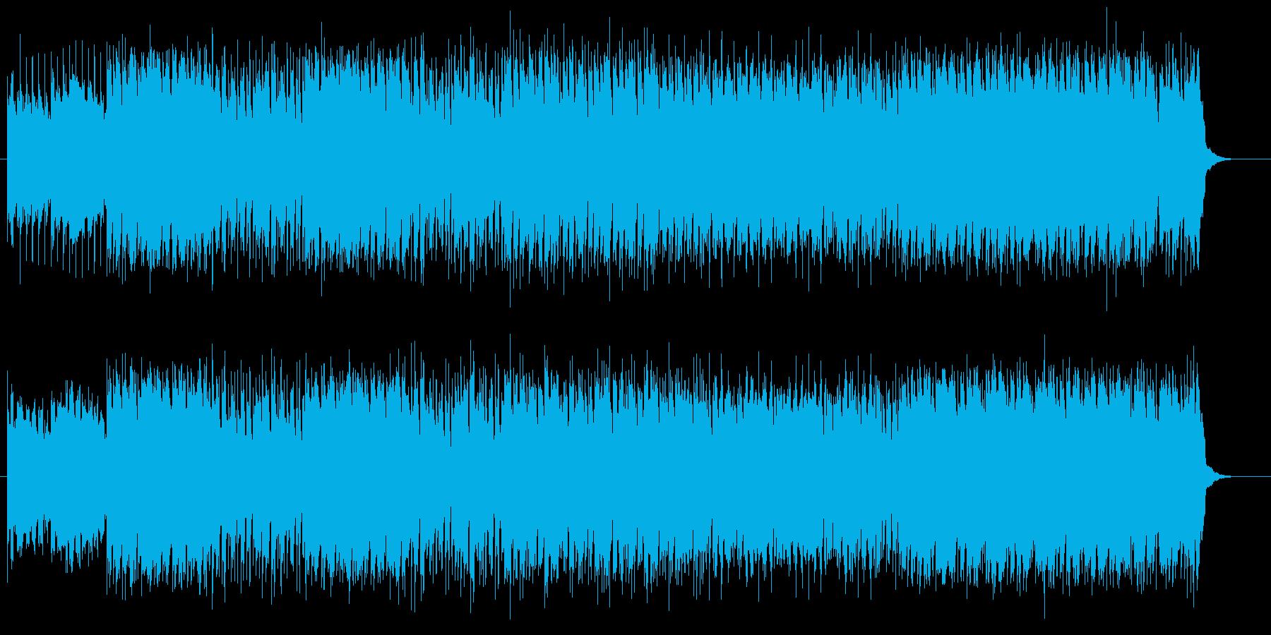 軽快で明るいギターサウンドのロックの再生済みの波形
