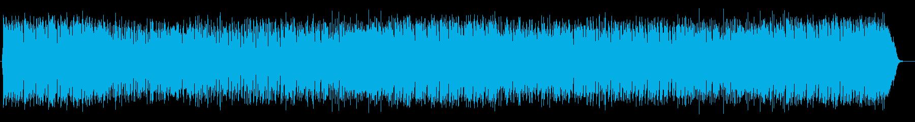 明るく陽気なシンセサイザーサウンドの再生済みの波形