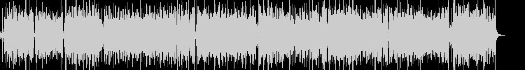 ブルース、ロックン・ロール風の元気BGMの未再生の波形