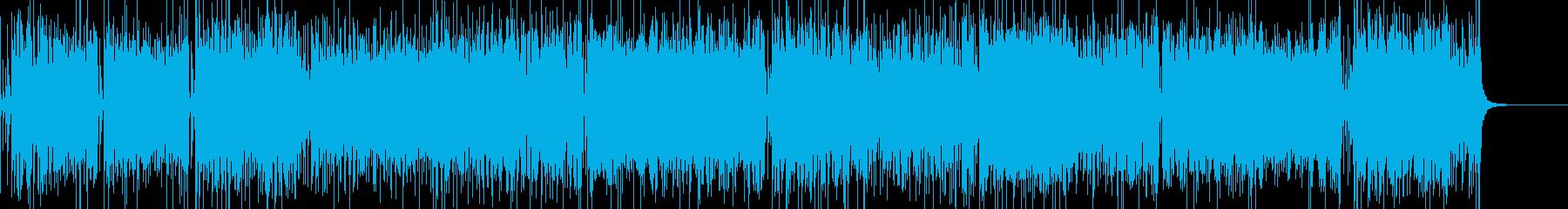 ブルース、ロックン・ロール風の元気BGMの再生済みの波形