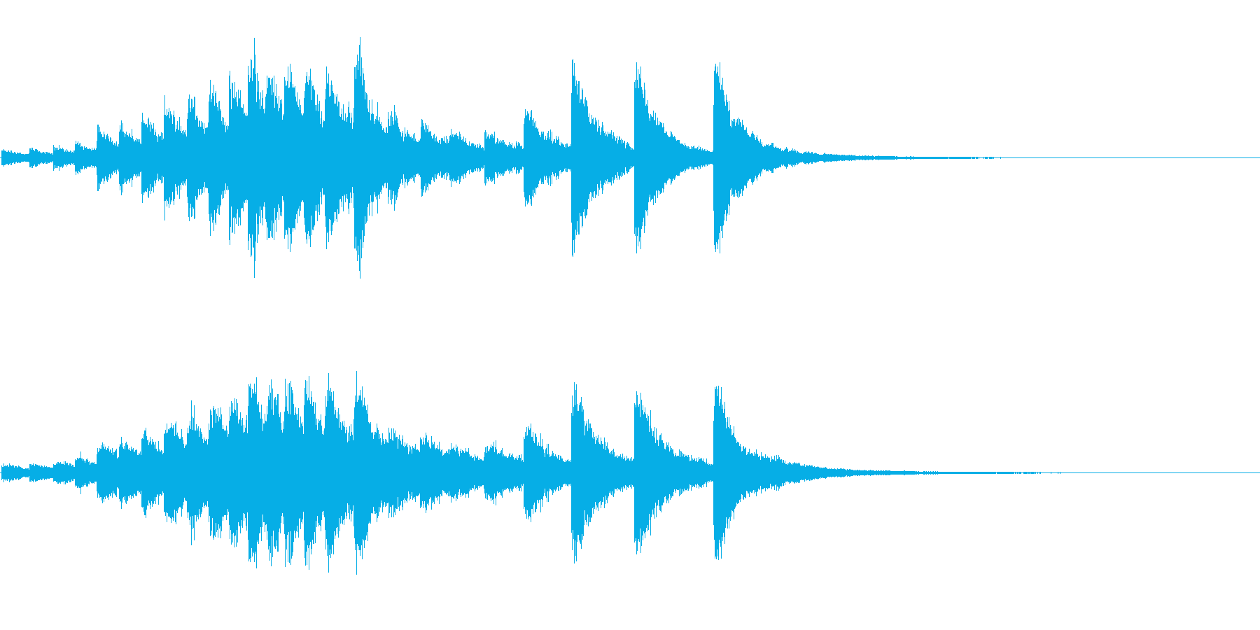 『カンカンカン・・』韓国ドラの抑揚連打音の再生済みの波形