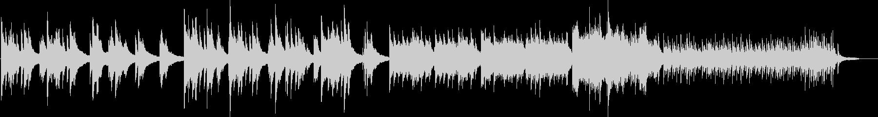 ピアノの優しい曲05の未再生の波形