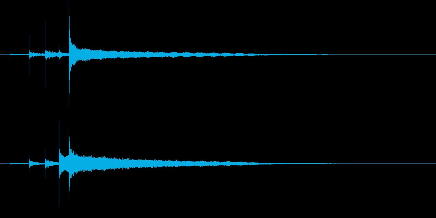 「カーンコーン〜」シンギングボウルの音の再生済みの波形