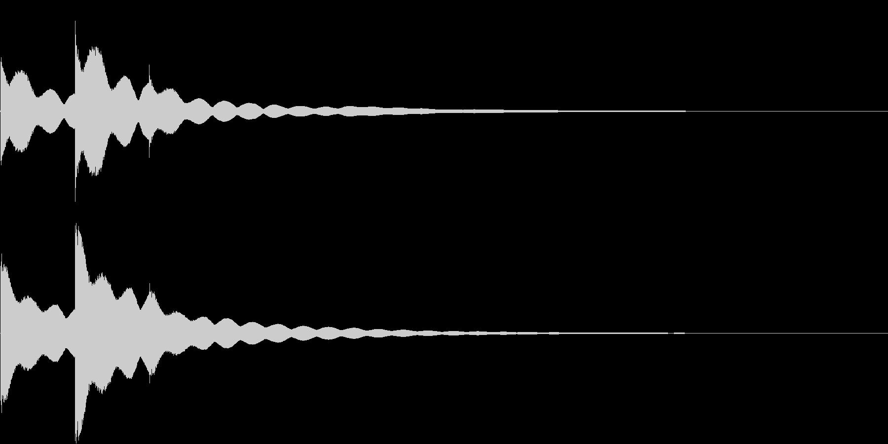 チーンチーン 仏壇の鐘の音6の未再生の波形