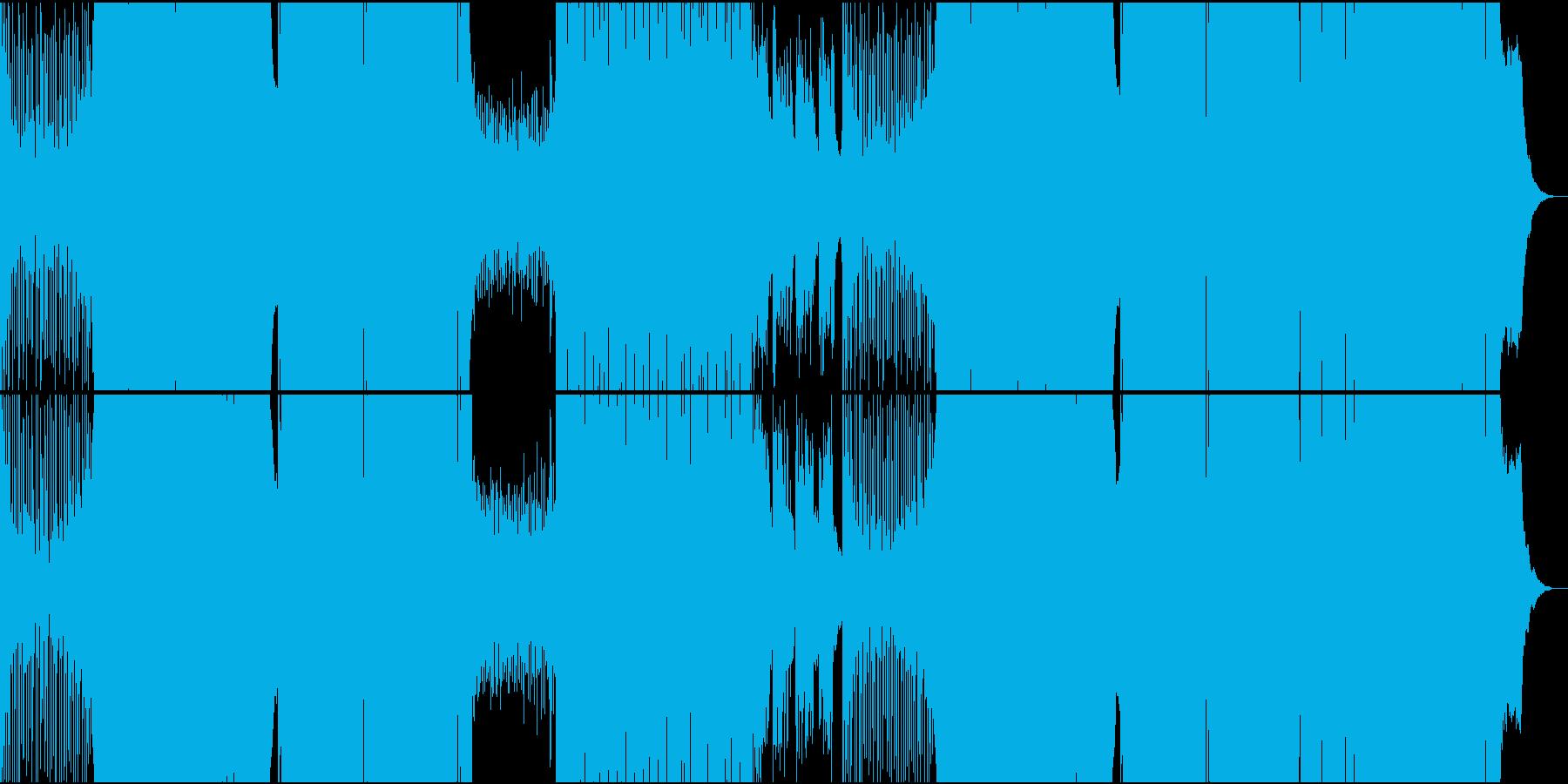 ゲーム用力強いバトル系王道EDMの再生済みの波形