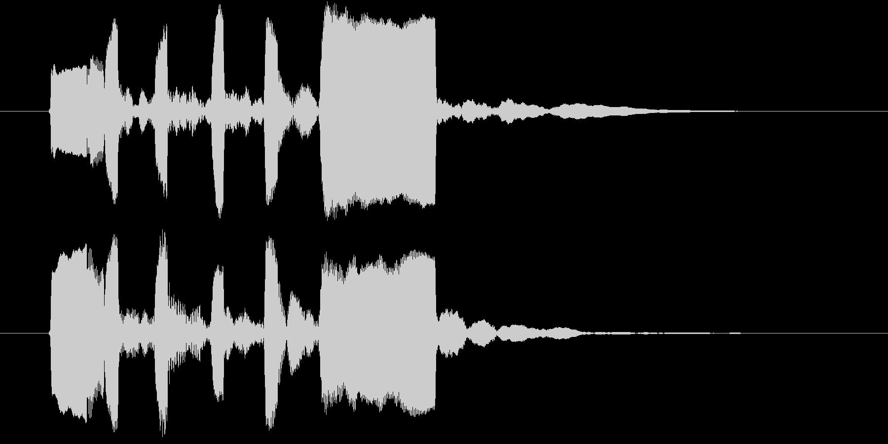リコーダーのジングルの未再生の波形