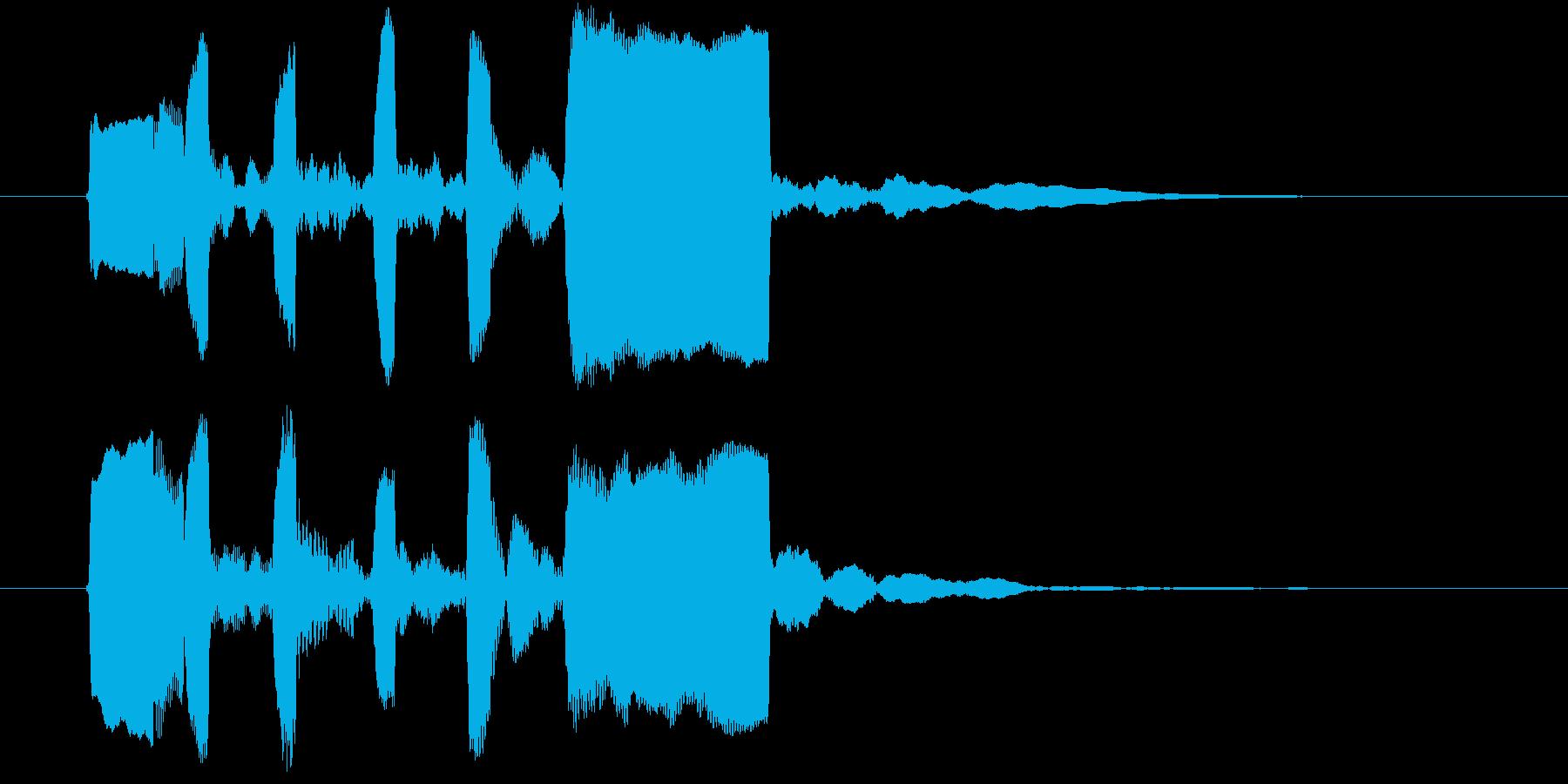 リコーダーのジングルの再生済みの波形