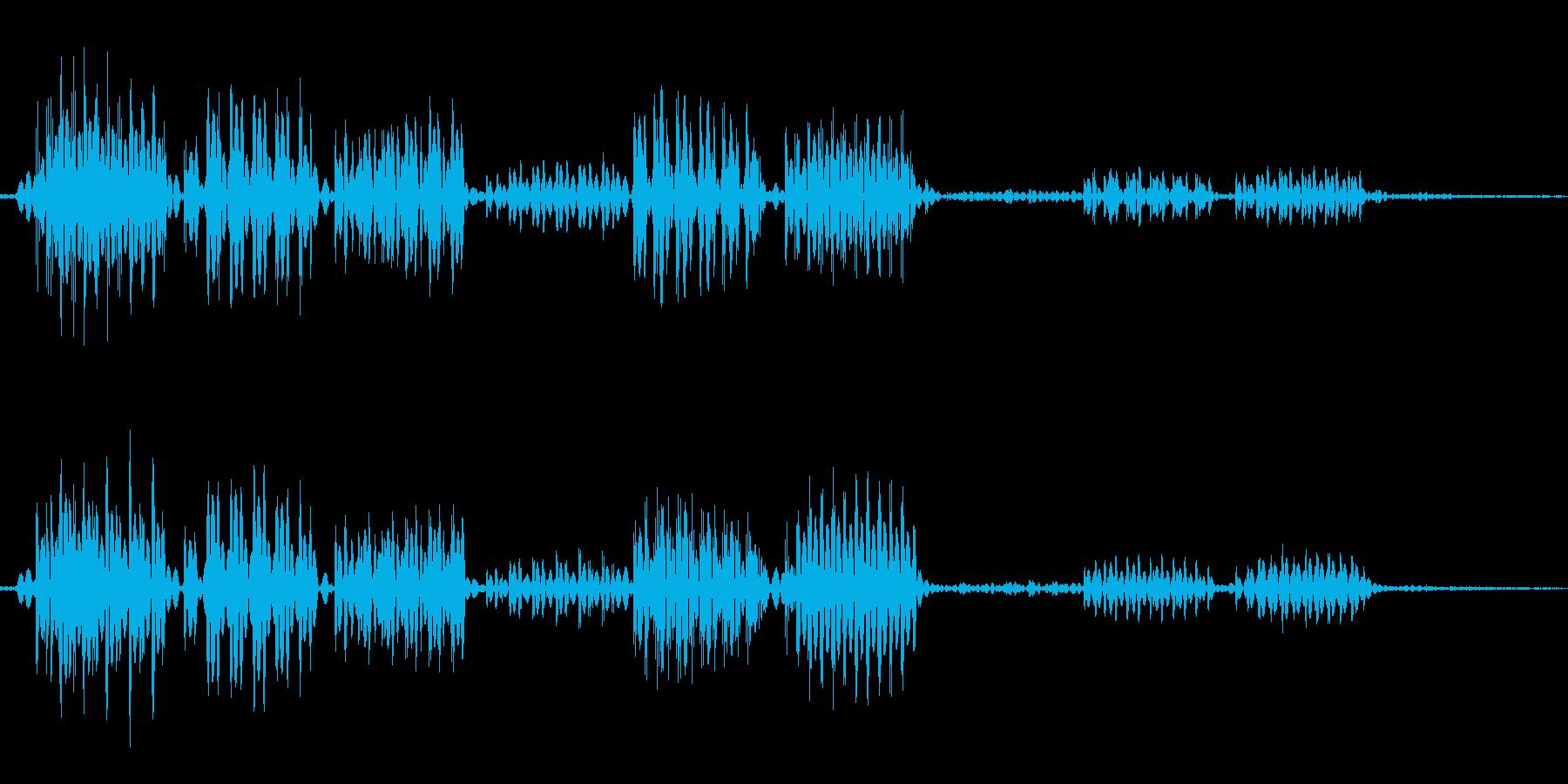 ビビビッという雷ぽい音の再生済みの波形