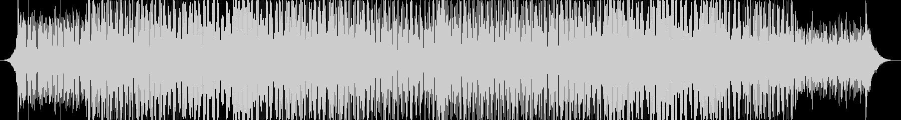 力強いリズムのテクノミュージック-01の未再生の波形