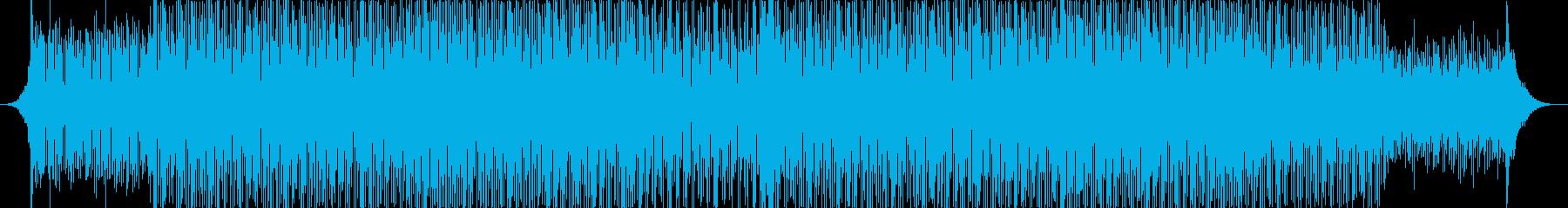 力強いリズムのテクノミュージック-01の再生済みの波形