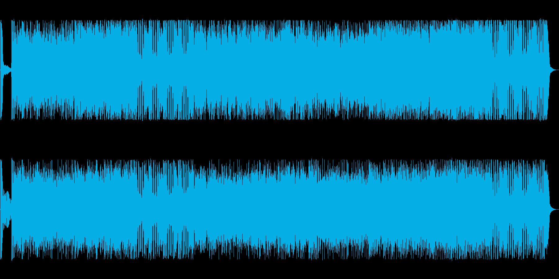 スピード感あり!パワフルなハードロックの再生済みの波形