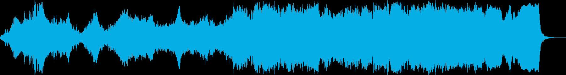 科学番組やナレーション向けBGMの再生済みの波形