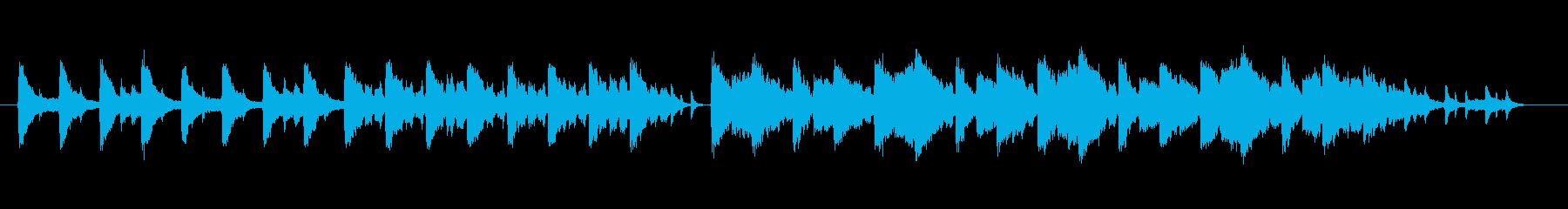 ピアノと機械音の幻想的な楽曲です。の再生済みの波形