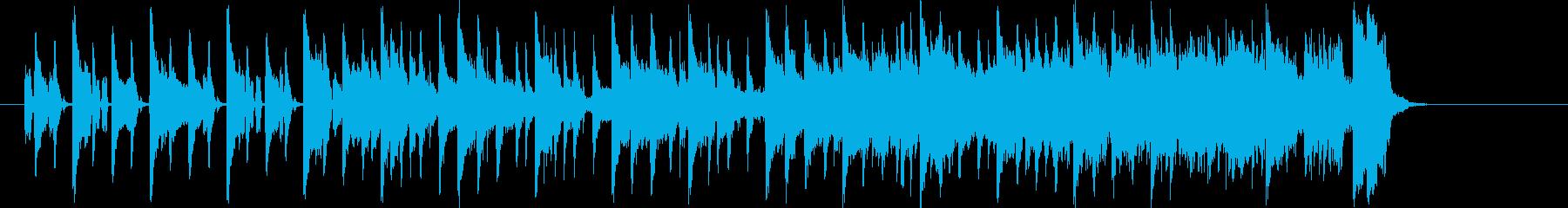 時間が迫っている時のジングル曲、BGMの再生済みの波形