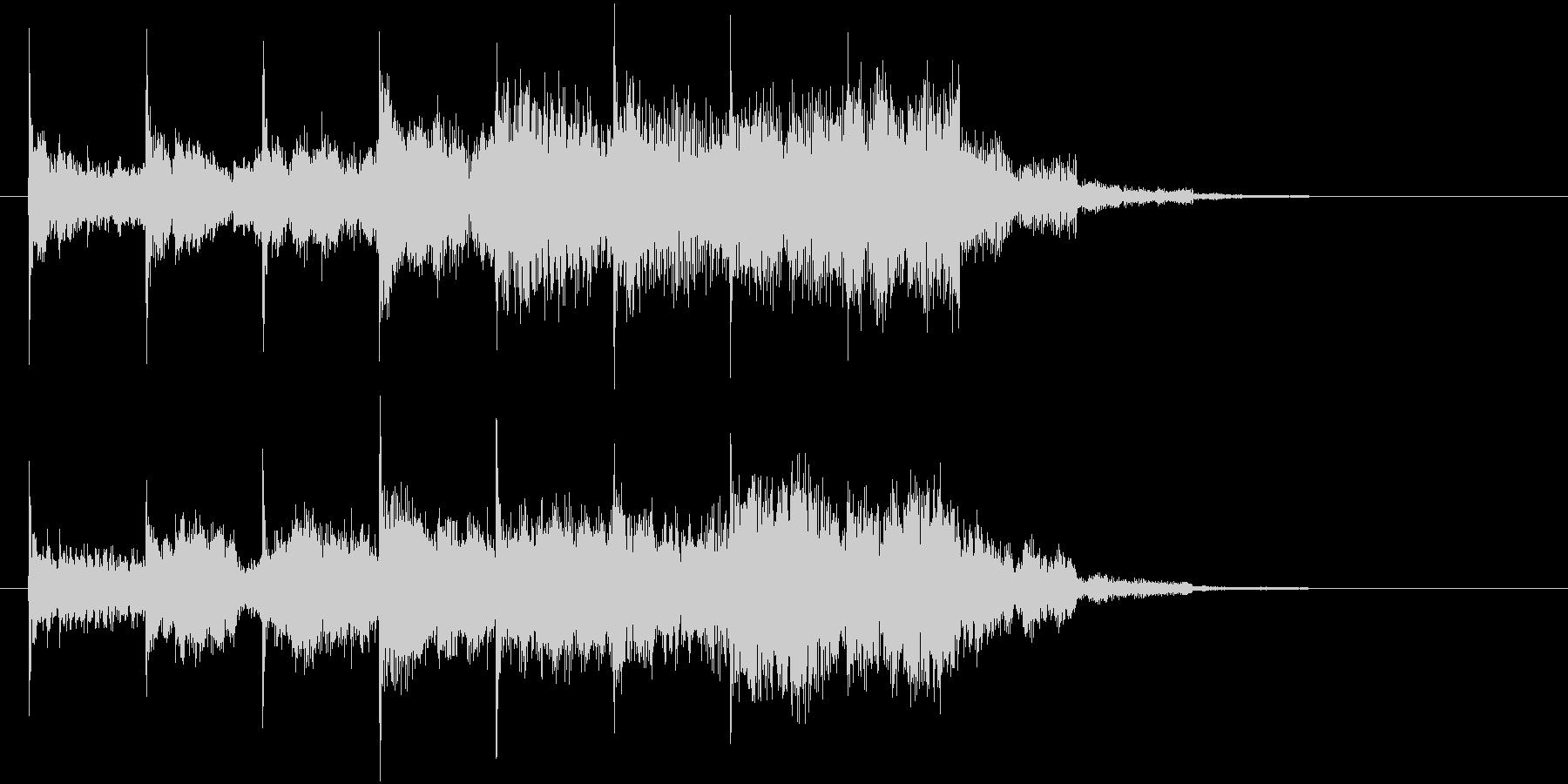 シンプルなジングルの未再生の波形