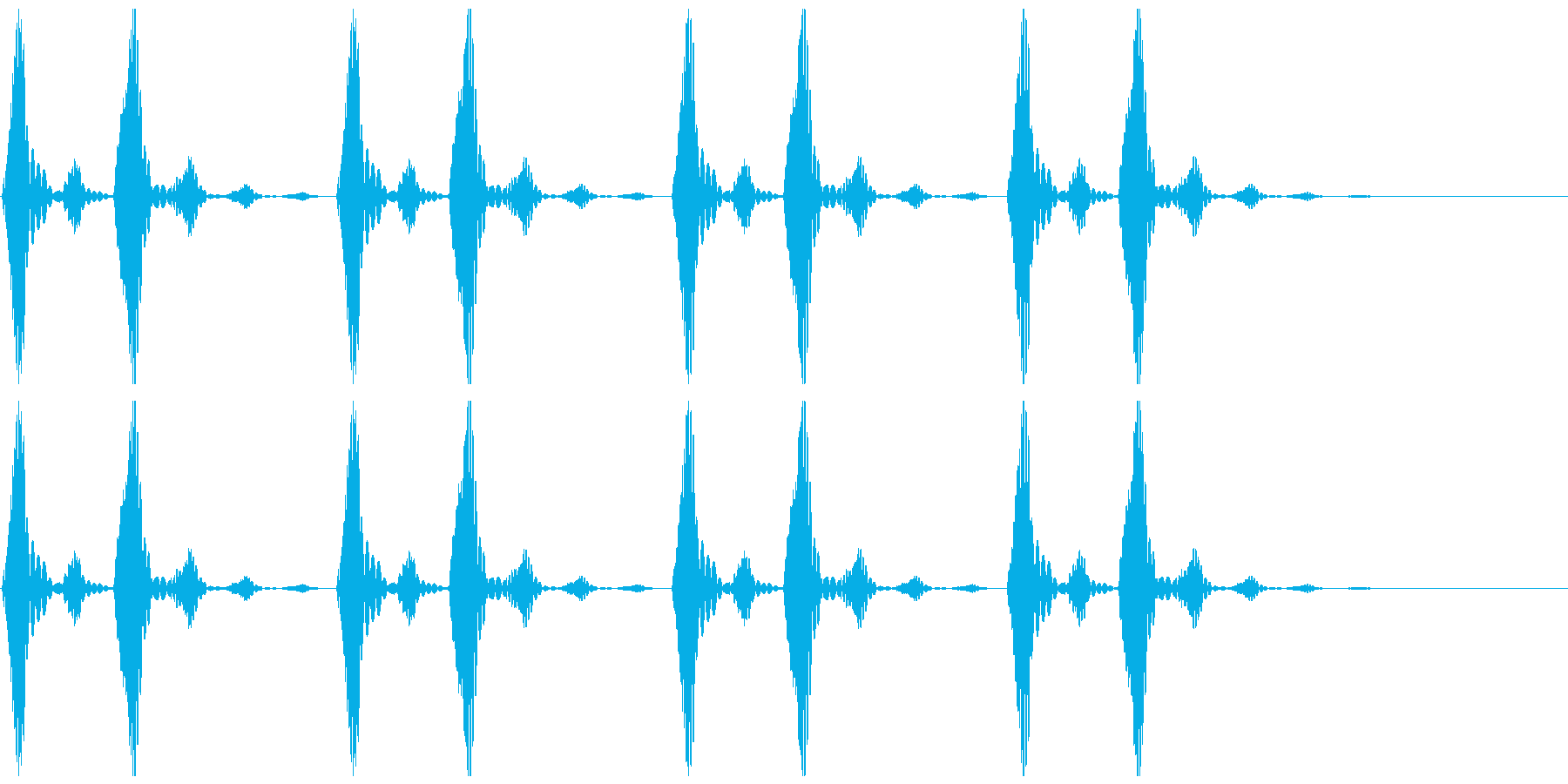 鼓動のイメージです。の再生済みの波形
