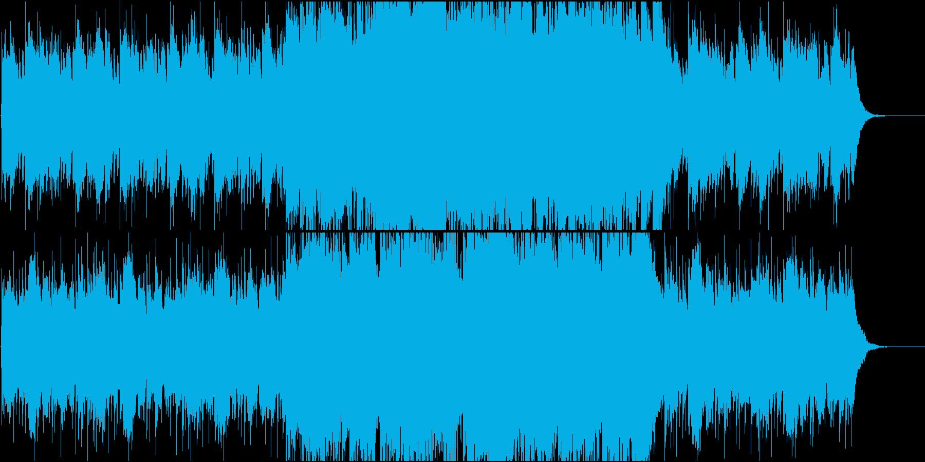 優しいピアノポップBGMの再生済みの波形