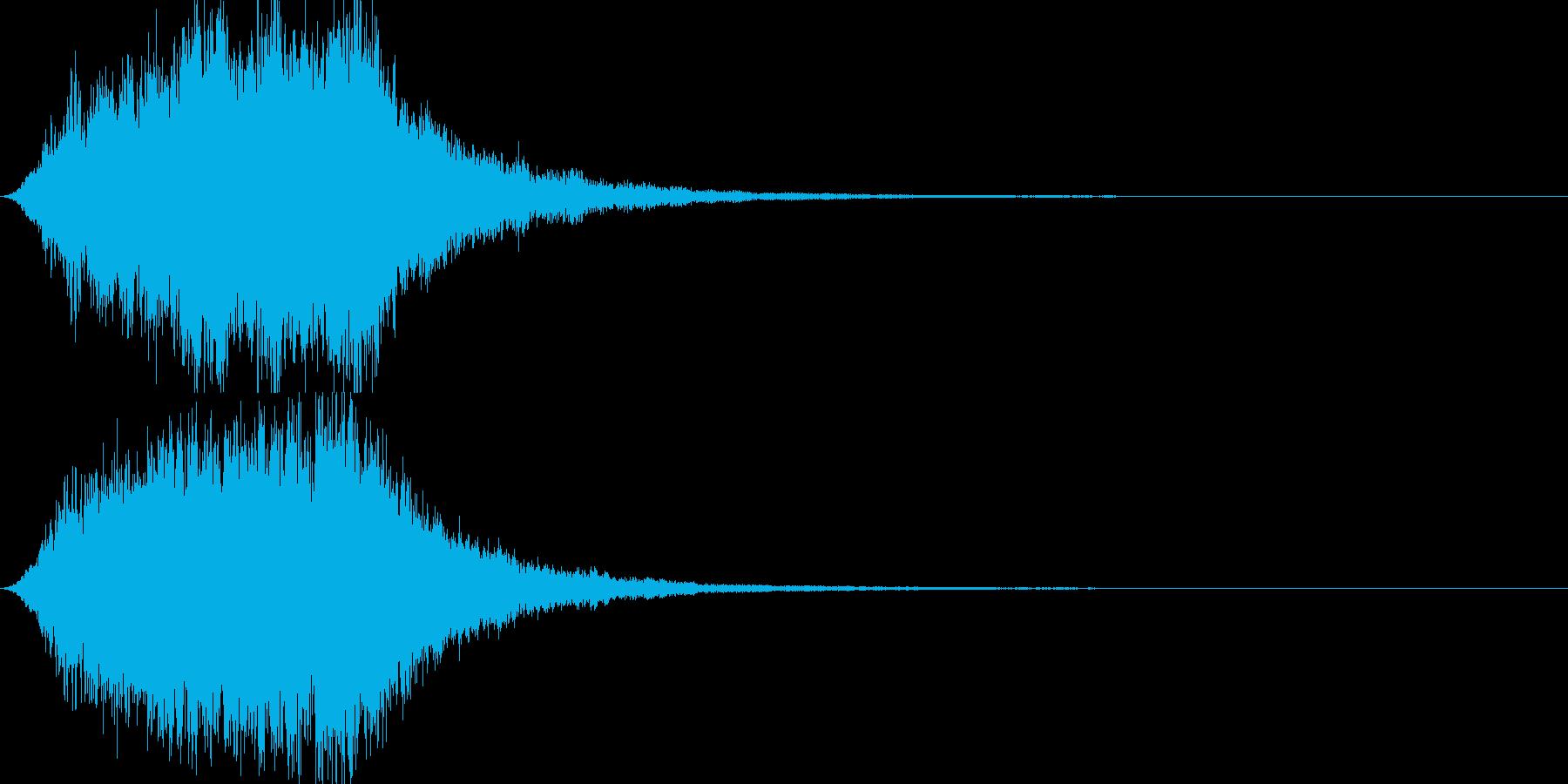 ドュワーン ホラーゲーム恐怖系SEの再生済みの波形