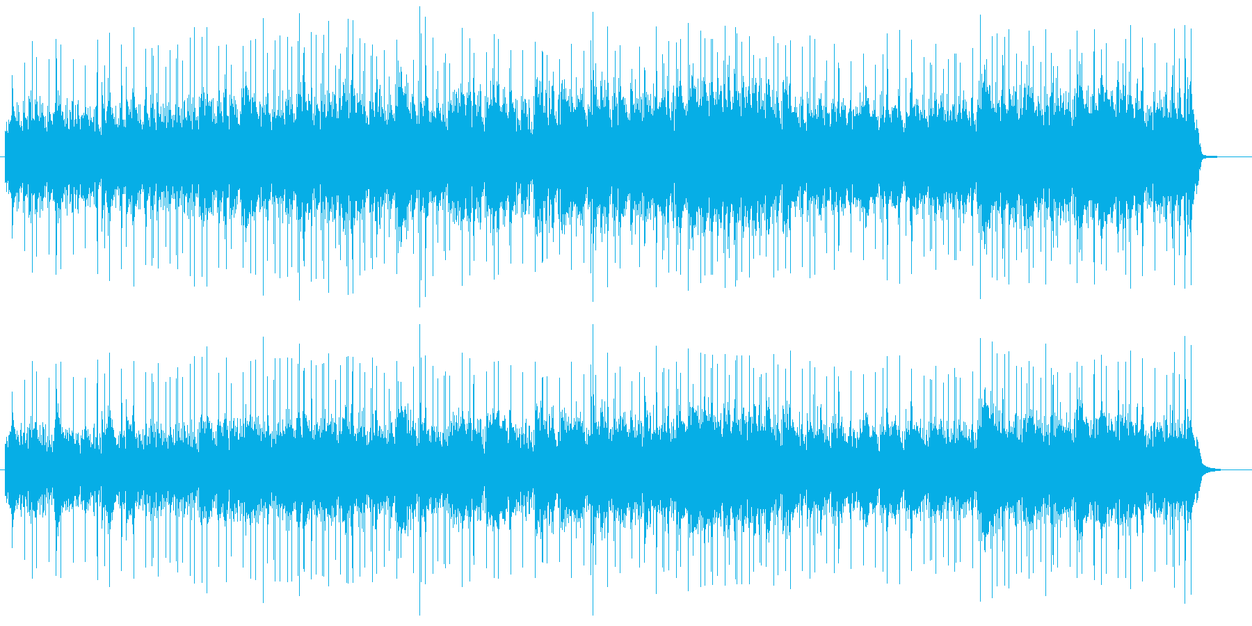 寒い冬をイメージした曲の再生済みの波形