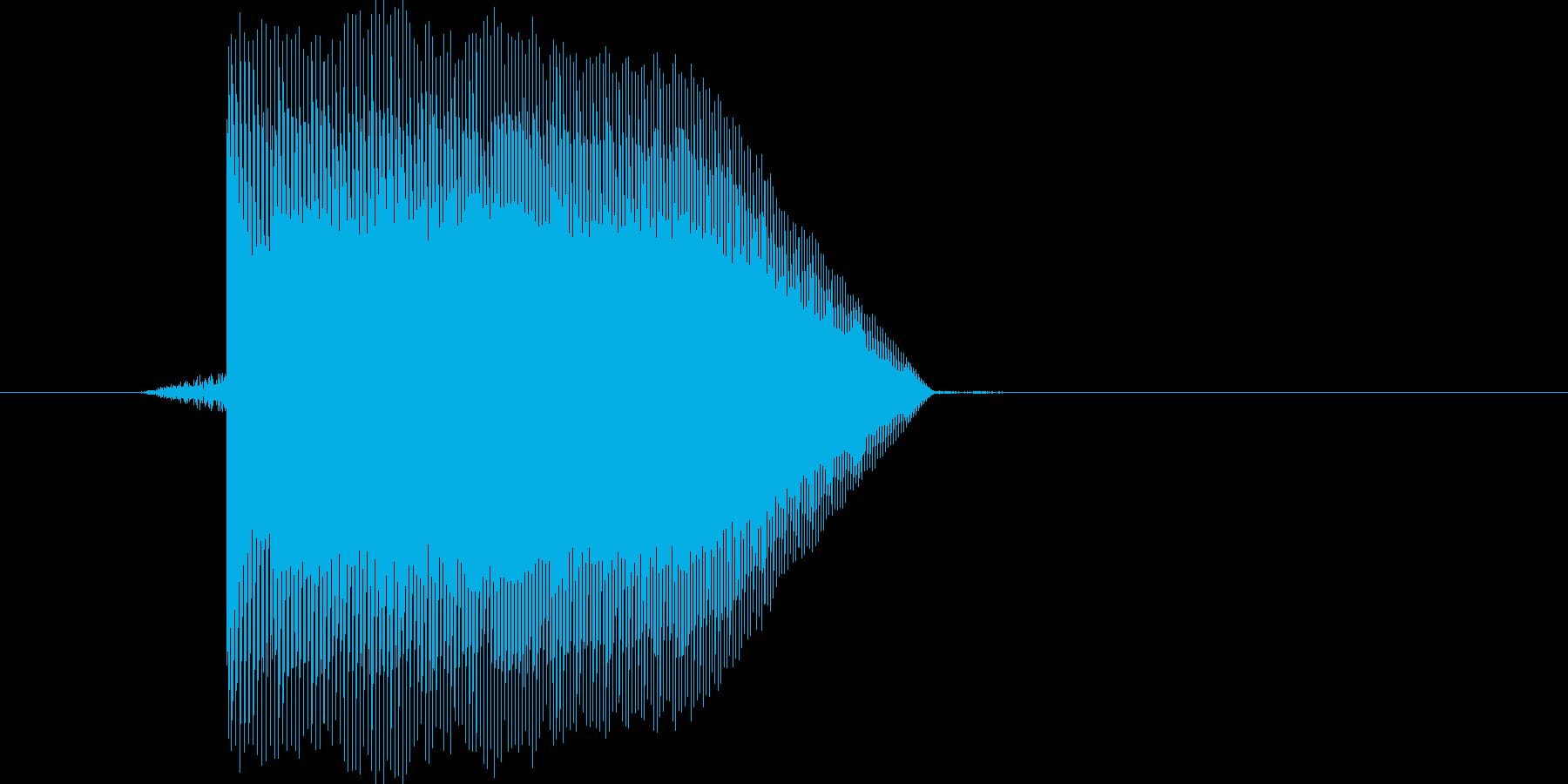 ゲーム(ファミコン風)ジャンプ音_001の再生済みの波形