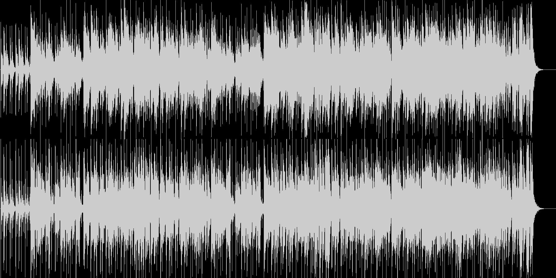 クリーンギターによる夜のフュージョンの未再生の波形