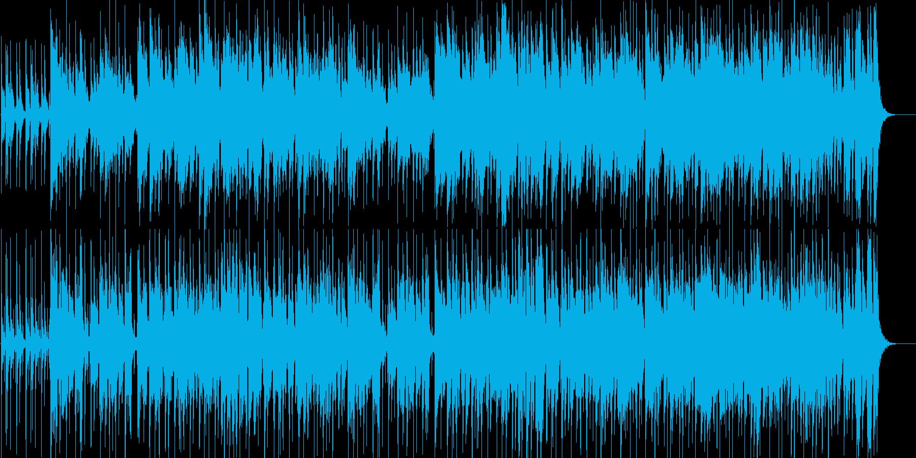 クリーンギターによる夜のフュージョンの再生済みの波形