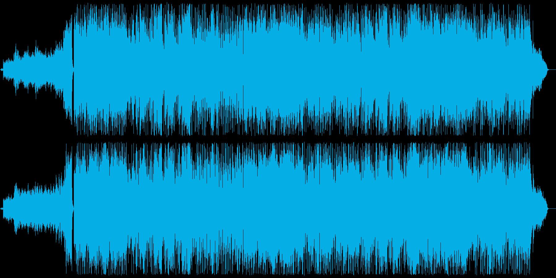 結婚式の入場で使用するゆったりと壮大な曲の再生済みの波形