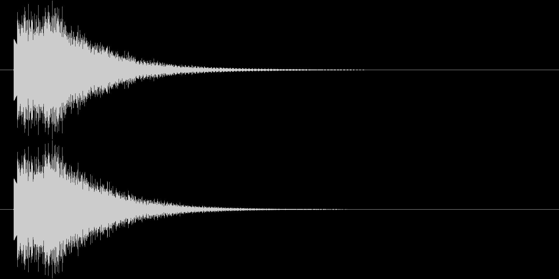 下降するハープシコード音のSEの未再生の波形