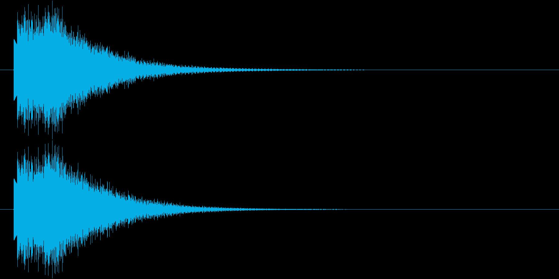 下降するハープシコード音のSEの再生済みの波形