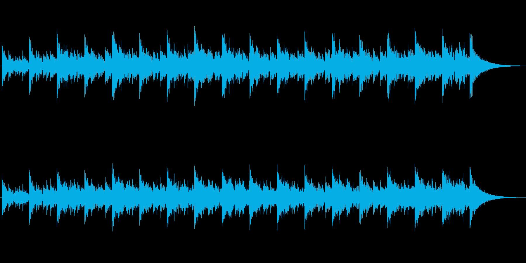 パーカッションとシンセの不思議なジングルの再生済みの波形