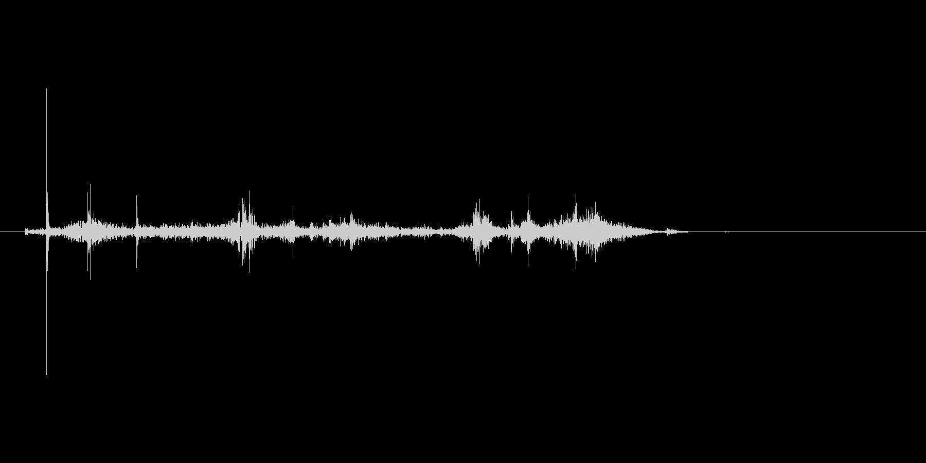 カサカサッ(封筒、開封、紙)の未再生の波形