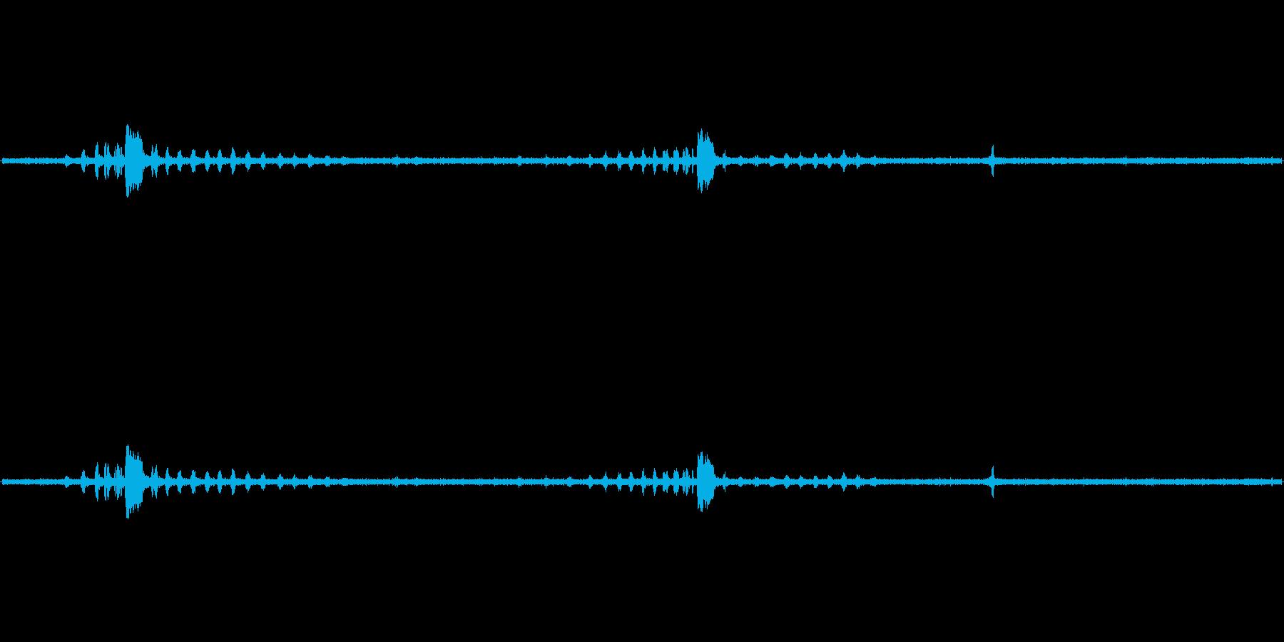 ブッポウソウの声 鳥の声 環境音の再生済みの波形