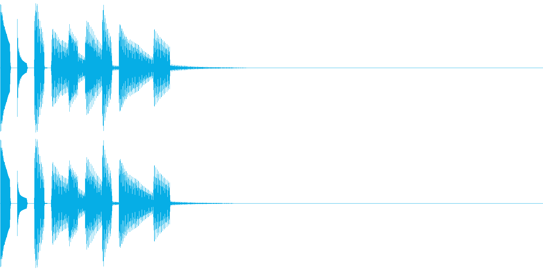 メール電話等着信音の再生済みの波形