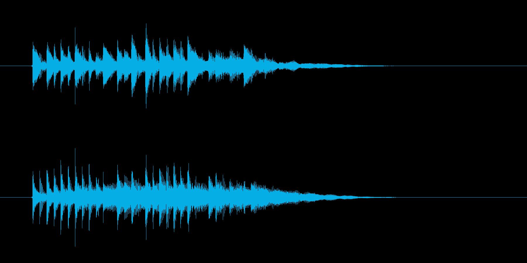 宇宙空間をふわふわと漂うようなシンセ曲の再生済みの波形
