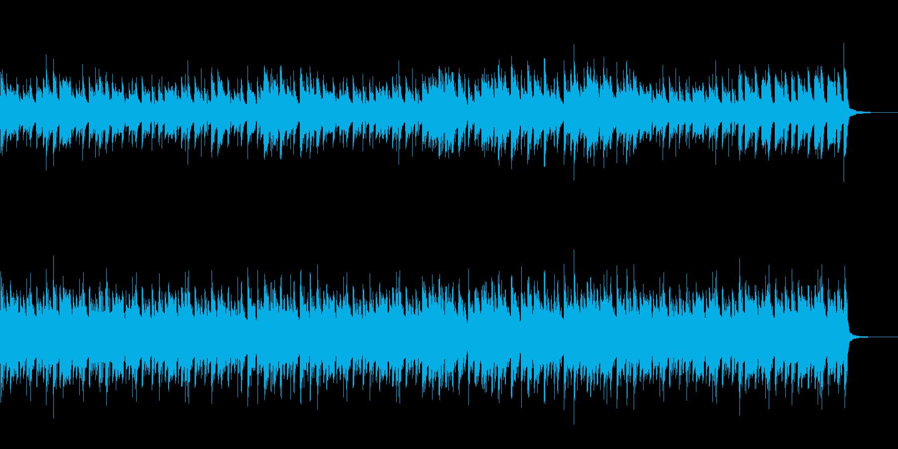 軽快なサンバ風の再生済みの波形
