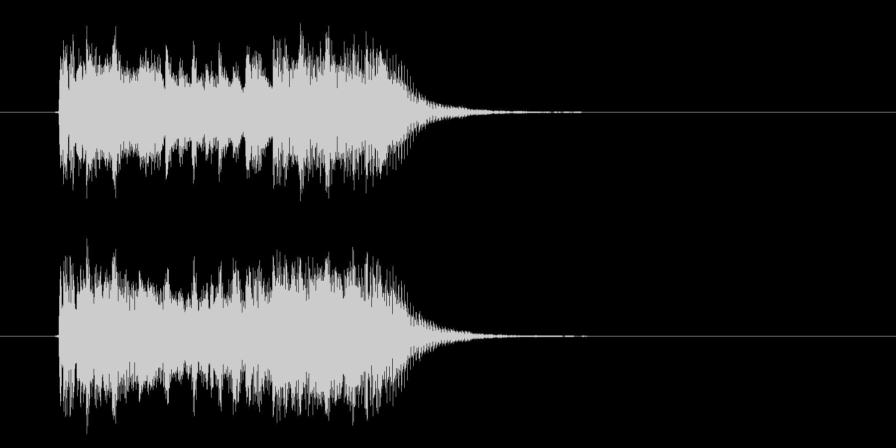 スピード感あるハイテクなジングルサウンドの未再生の波形