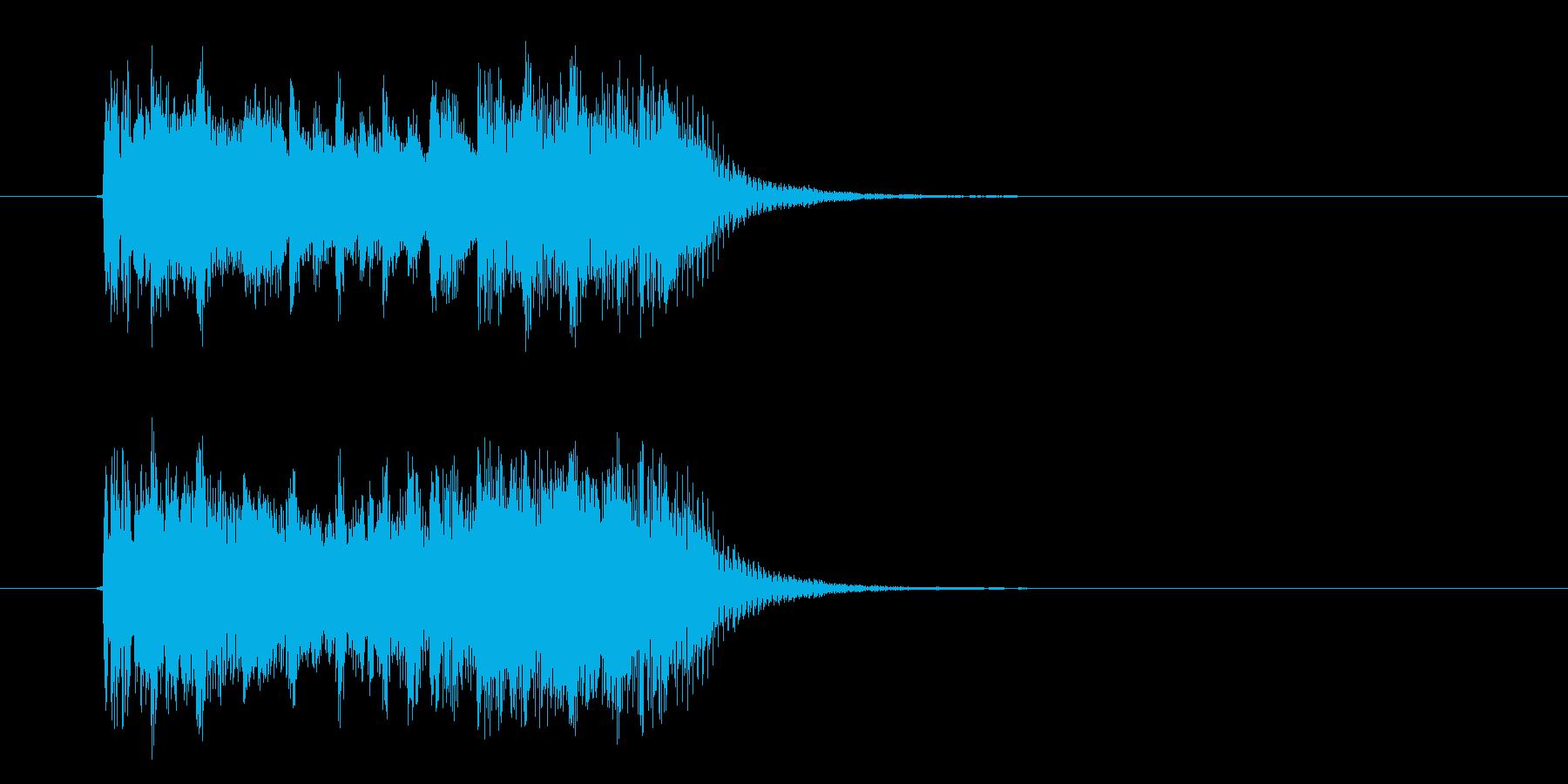 スピード感あるハイテクなジングルサウンドの再生済みの波形