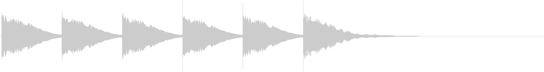 カウントダウンB2(5秒前)の未再生の波形