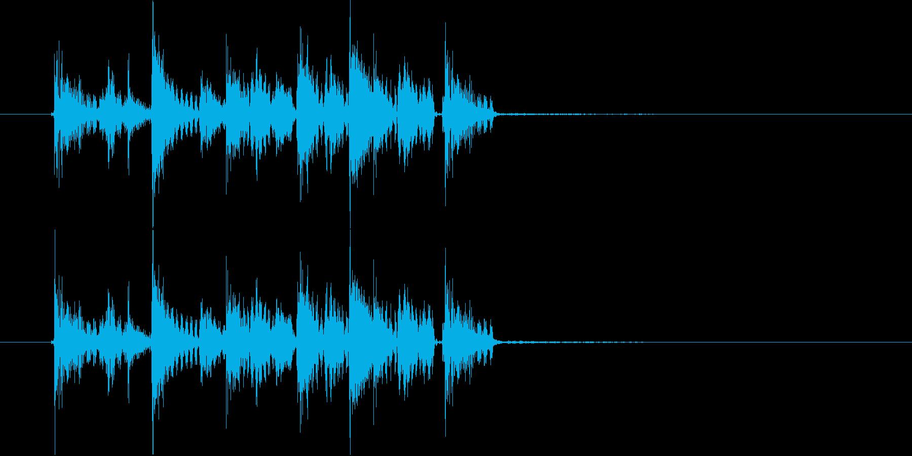 ズンズカズンズカピリリリ(ゲーム音)の再生済みの波形
