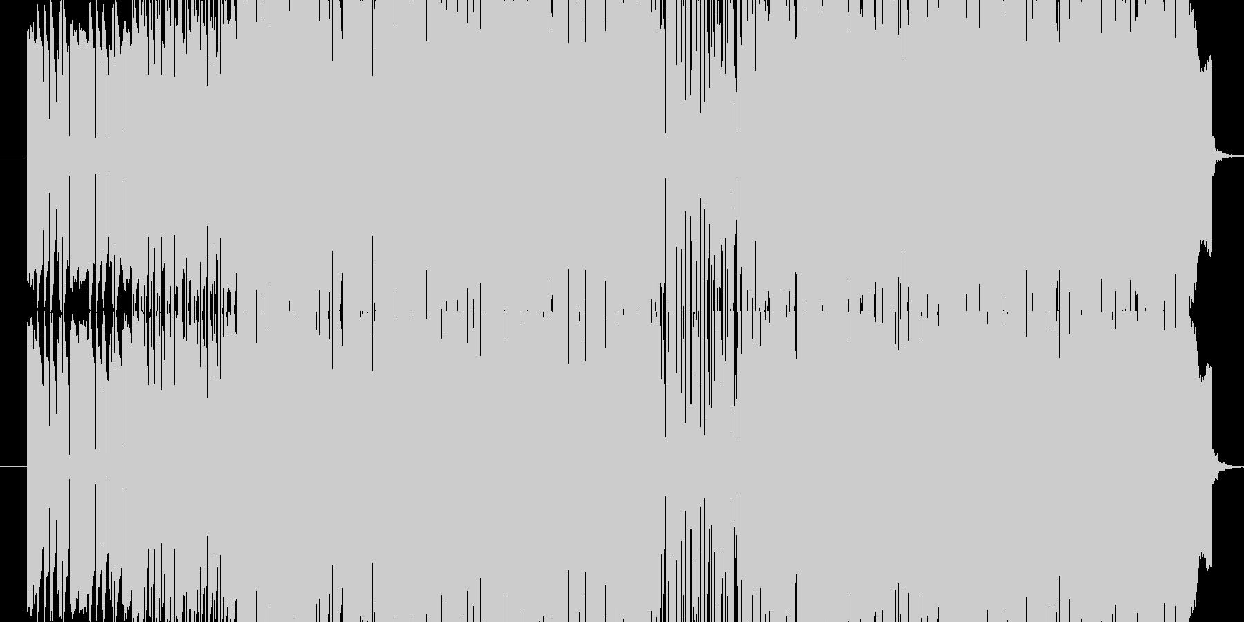 リズミカルなレゲエヴォーカルサウンドの未再生の波形