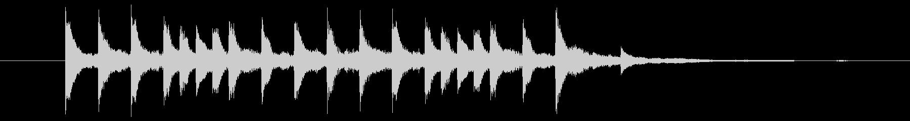 無機質なピアノソロジングルの未再生の波形