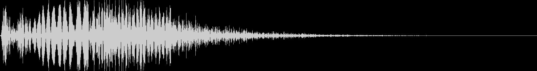 ゲーム・バラエティ的なパンチ音_04の未再生の波形
