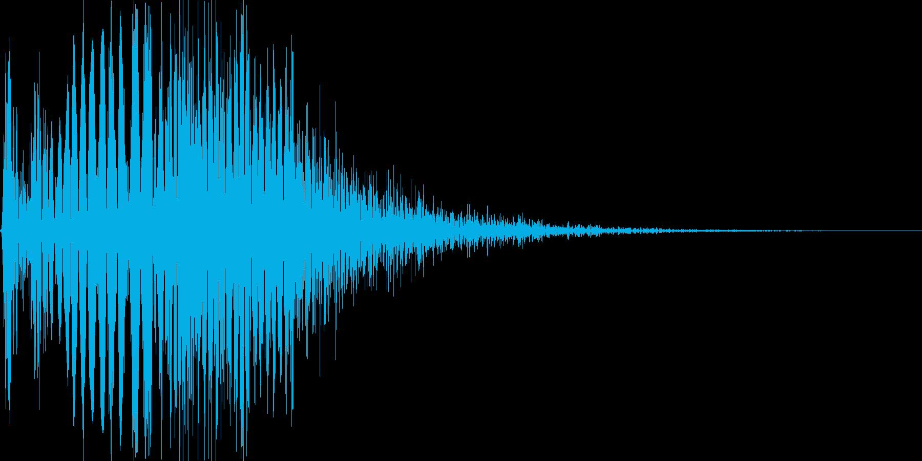 ゲーム・バラエティ的なパンチ音_04の再生済みの波形