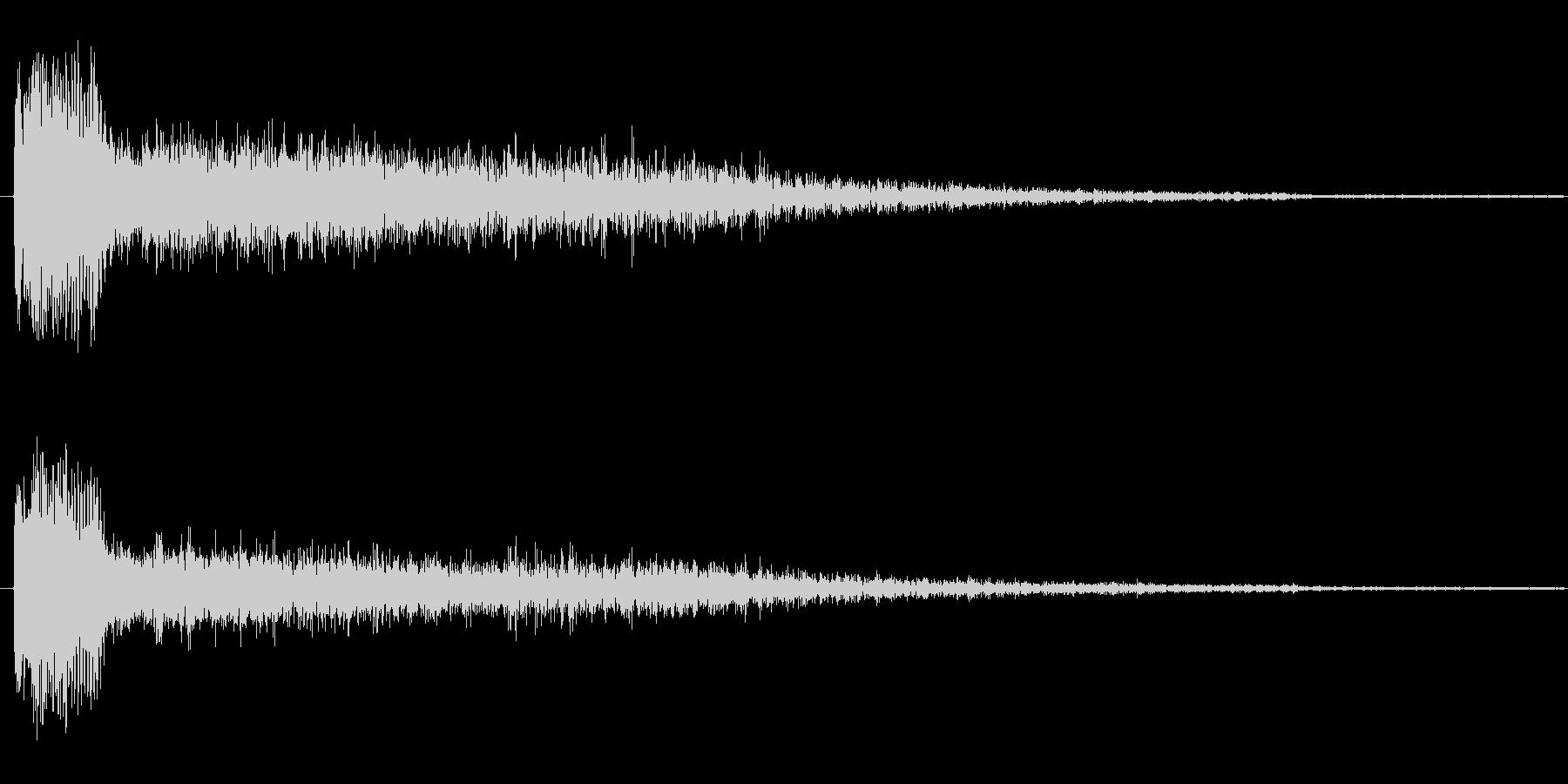 キック系 効果音の未再生の波形